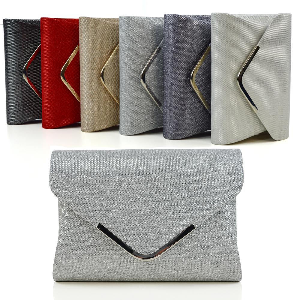ebd961760f62 Details about Womens Clutch Bag Purse Ladies Glitter Bridal Shoulder  Evening Party Handbag UK
