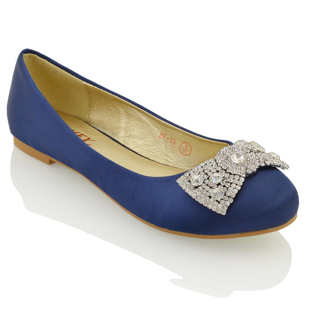 Blue Diamante Wedding Shoes