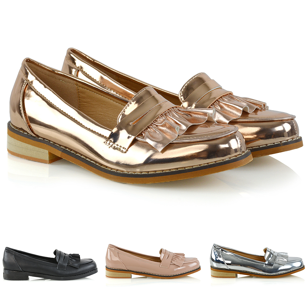 UK Women/'s Ladies Flats Slip On Pumps Soft Comfy Shoes Backless Loafers Size 3-8