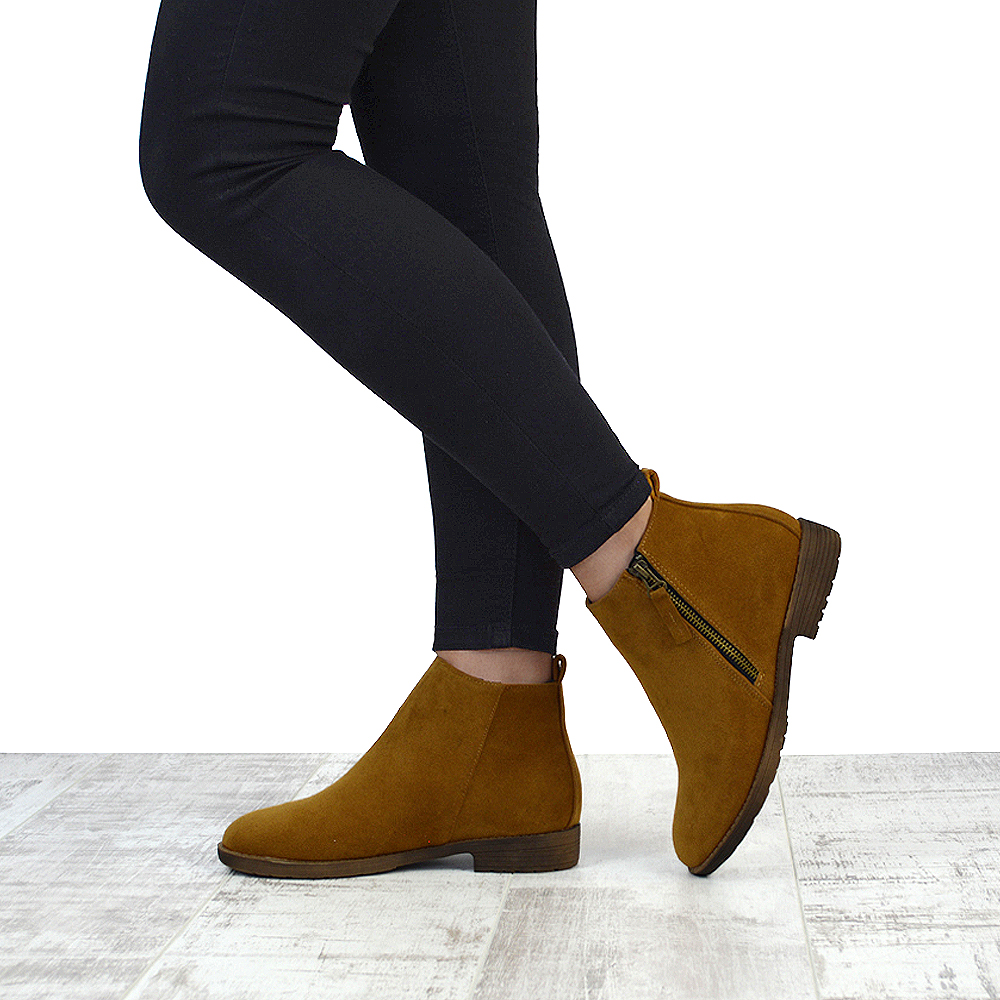 ladies tan ankle bottes