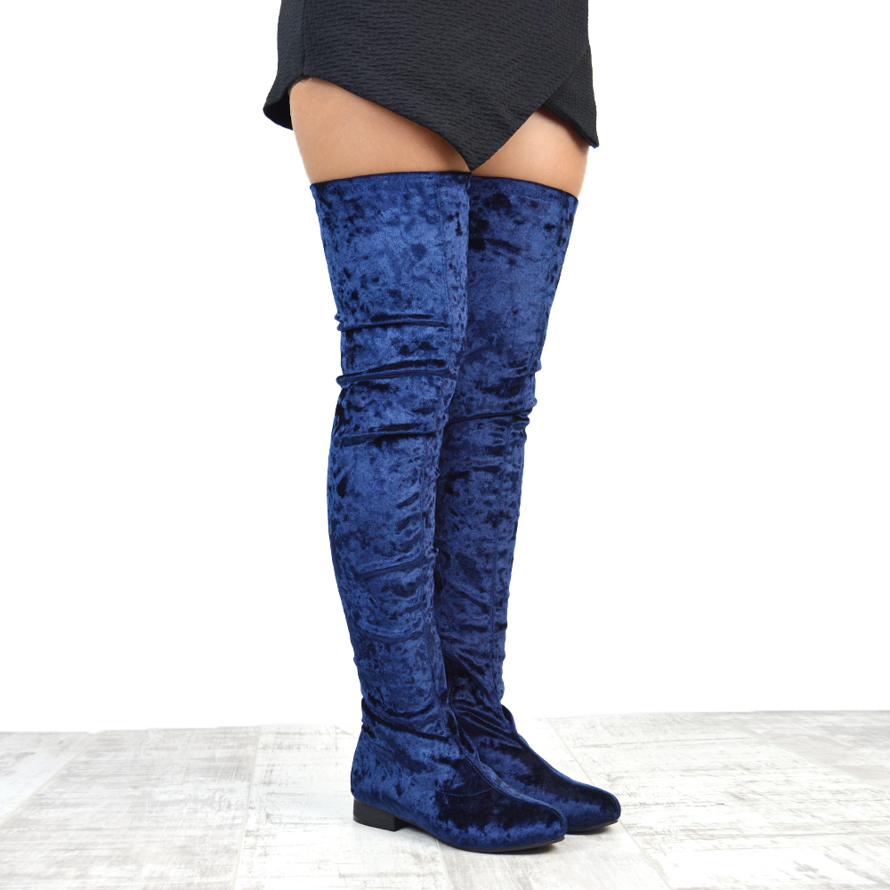 a4c859abd3b Womens Thigh High Flat Stretch Leg Tall Zip Ladies Over The Knee Riding  Boots. X. X. X. X. X. X. Click on the Image to Enlarge