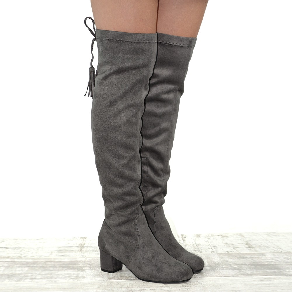 new womens the knee high low heel block