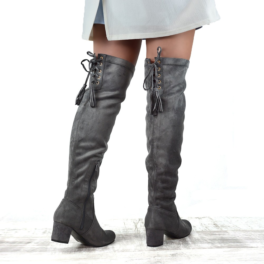 new womens the knee high stretch leg block