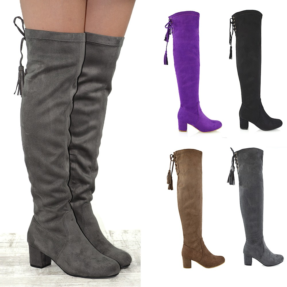 22 model knee high boots for without heels