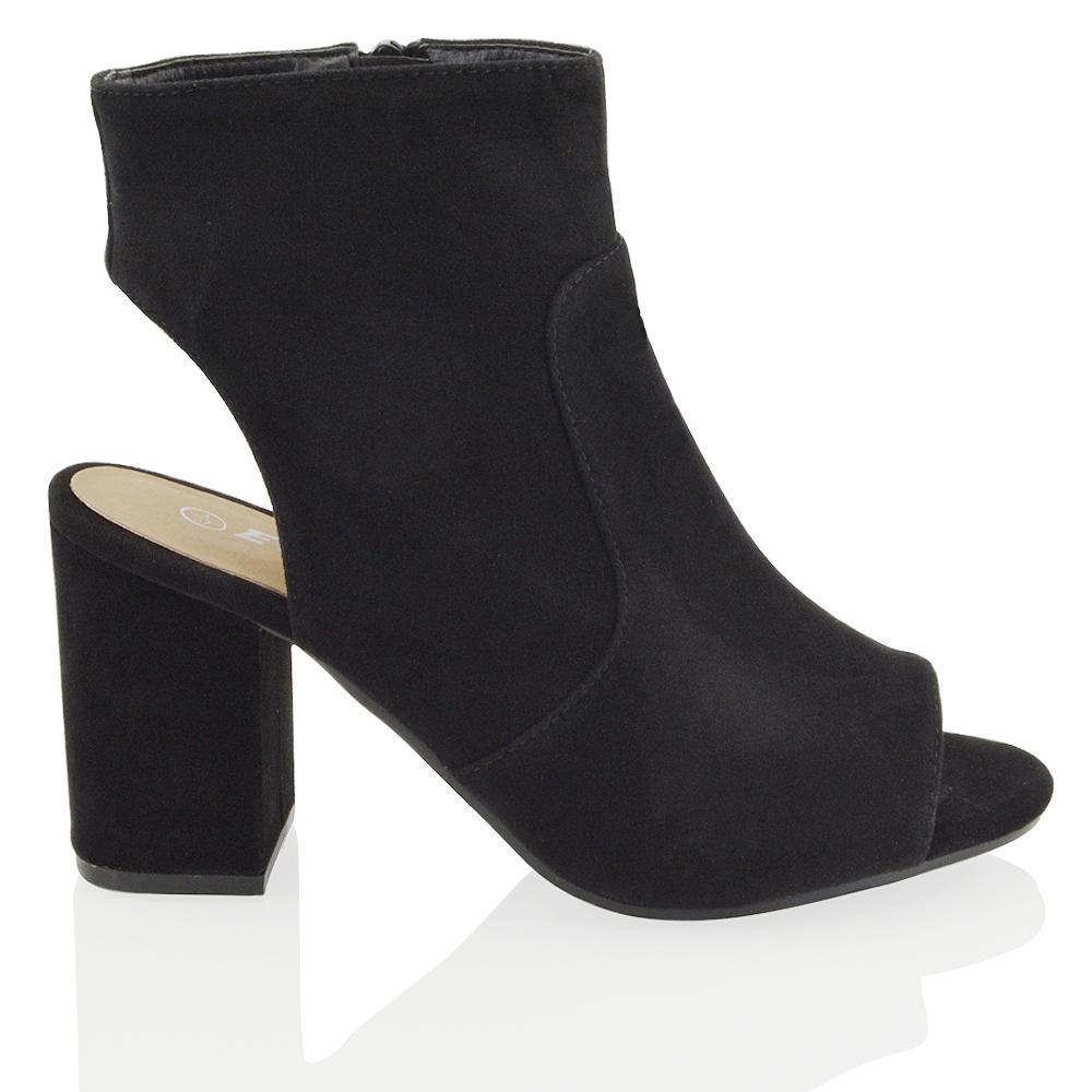 Brown Open Toe Shoe Boots