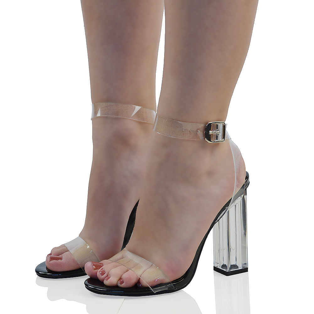 Glass Silver High Heel Shoe